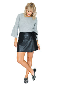 So Fancy Vegan Leather Mini Skirt