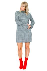 Edie Ladylike Check Shift Dress