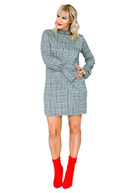 Edie Ladylike Check Shift Dress