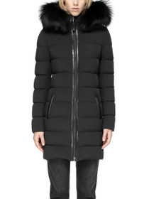 Calla Lightweight Down Coat With Fur Trimmed Hood