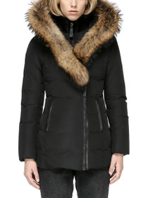 Adali Fitted Winter Down Coat With Fur Hood