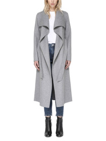 Mai Belted Wool Coat With Waterfall Collar