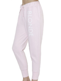 Printed Blonde Middle Sister Jogger in Pink