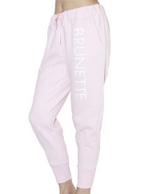 Printed Brunette Middle Sister Jogger in Pink