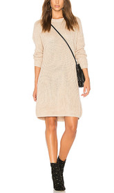 Don't Cross Me Lace Up Knit Sweater Dress