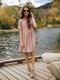 Ready For The Weekend Peplum T-Shirt Dress