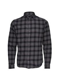 Tobias Long Sleeve Longline Check Shirt