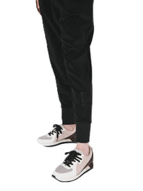 Brunette Elle Velour Drawstring Jogger in Black