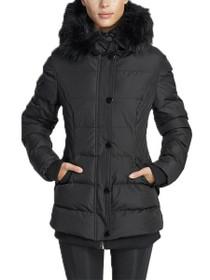Aspen Short Length Hooded Vegan Storm Jacket in Black