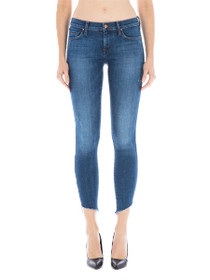 Mila Raw Hem Denim in Vintage Blue