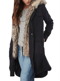 Walsh Faux Fur Lined Trench Coat