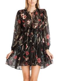 Destiny Floral Long Sleeve Boho Dress