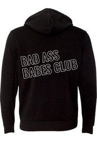 Bad Ass Babes Club Graphic Zip Hoodie
