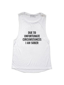 Unfortunate Circumstances Graphic Muscle Tank