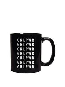 Girl Power Oversized Mug in Black