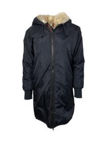 Street Style Faux Fur Lined Parka Jacket