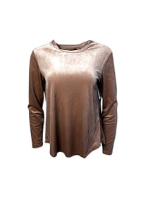 Jolie Long Sleeve Velvet Top