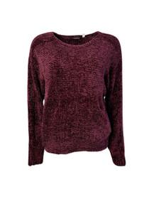 Auld Long Sleeve Knit Velvet Sweater