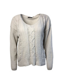 Aspen Cable Knit Long Sleeve Sweater