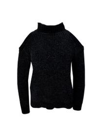 Zila Cold Shoulder Velvet Knit