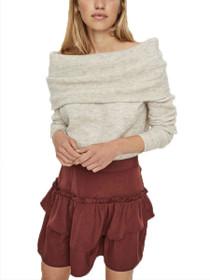 Goura Long Sleeve Off Shoulder Knit Blouse