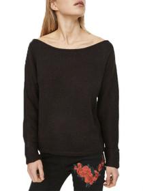 Abbey Long Sleeve Open Shoulder Knit Top