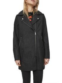 Beccy Long Sleeve Long Motto Coat