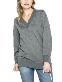 Brace Long Sleeve V-Neck Long Sweat