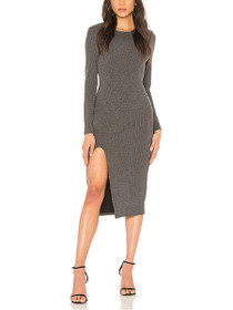 Influence Long Sleeve Fitted Midi Dress