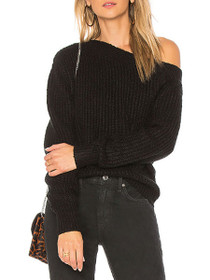 One Sided Knit Long Sleeve Jumper