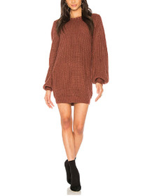 One Sided Knit Jumper Dress