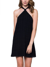 Regan Cross Halter Neck Dress