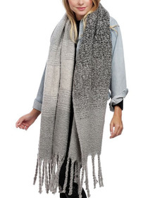 Altitude Thick Long Tassel Scarf