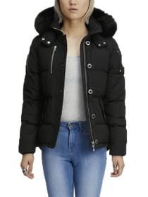 Ladies 3Q Fur Trimmed Parka Jacket