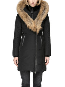 Kay Mid Length Down Coat With Fur Collar