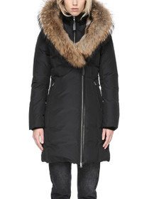 Trish Fur Hooded Down Coat