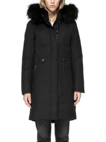 Enia Fur Hooded Down Coat