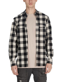 Flannel Box Long Sleeve Button Down Shirt