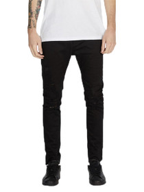 Joe Blow Slim Denim in Black Shred