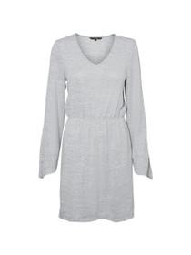 Natural Long Sleeve Short Dress