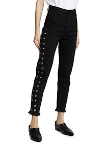 Legend High Waist Mom Jean in Black Oak