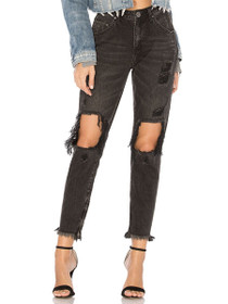Freebirds High Waist Skinny Denim in Double Bass