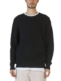 Lambswool Knit Long Sleeve Crew Pullover