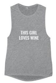 This Girl Loves Wine Graphic Muscle Tank