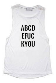 ABCD Graphic Muscle Tank