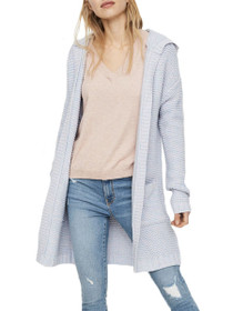 Name Long Sleeve Long Hood Cardigan