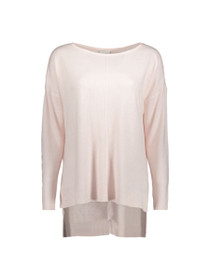 Chen Long Sleeve Boatneck Long Knit Top