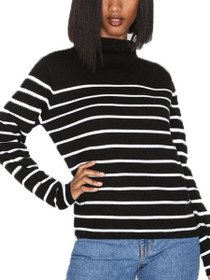 Adele Long Sleeve High neck Stripe Pullover