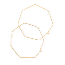 Nash Octagon 14K Hoops