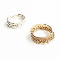 Gwynnie Bee 14K Triple Ring Stack